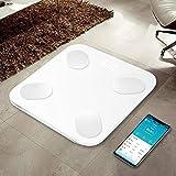 bascula Tanita bascula balanza baño de Cocina Grasa Corporal composición Alta precisión Bluetooth balanza Precision báscula baño vasculas de Peso-España_Blanco