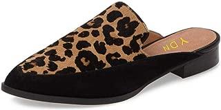 Women Low Heels Mules Slip On Flats Loafers Pointy Toe Clogs Slide Slipper Shoes