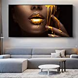 JinYiGlobal Afrikanische Frau Golden Sexy Lips