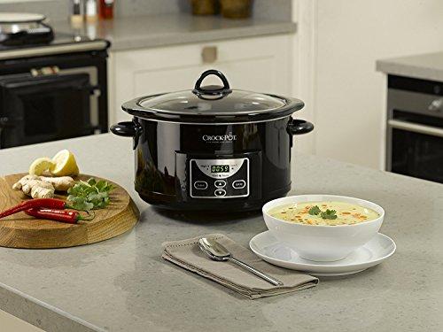 Crock-Pot SCCPRC507B Olla de cocción lenta digital para preparara multitud de recetas, 230 W, 4.7 litros, Acero Inoxidable