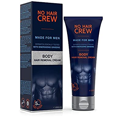 NO HAIR CREW Premium Body Hair Removal Cream - Depilatory Cream Made for Men, 200 ml from NO HAIR CREW