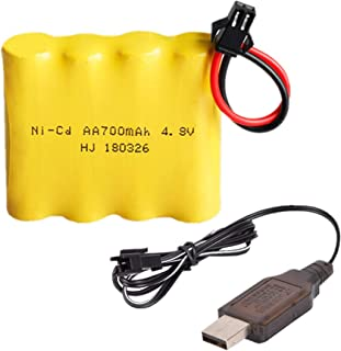 Rechargeable Ni-Cd Battery AA X 4 700mAh 4.8V SM-2P Plug for RC Toy Household Electric Appliances Lighting Equipment with Charging USB Cable