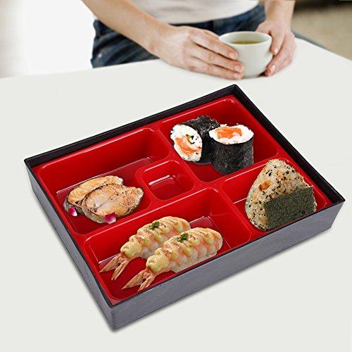 Bento Box - Fiambreras portátiles Bento Food Container Caja de Almacenamiento de Madera de Estilo japonés Picnic de Oficina