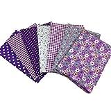 Bodhi2000 - Juego de 7 manteles para coser (50 x 50 cm), diseño de flores