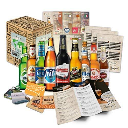 'CERVEZAS DEL MUNDO' Selección de las 9 cervezas más exclusivas del mundo. Paquete de degustación. Excelente idea de regalo para hombres jóvenes y adultos