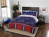 Sports Bedding Buffalo Bills NFL Queen Comforter Logo Sheets 5 Piece Bed in A Bag