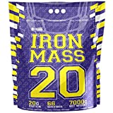 Iron Horse Mass Gainer Whey Protein Powder 1 x 7000g pack Aumento de masa Carbohidratos Carbohydrates (Cookies)