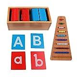 MERIGLARE Juguetes Preescolares de Madera Montessori para Niños Alfabeto de Desarrollo Temprano