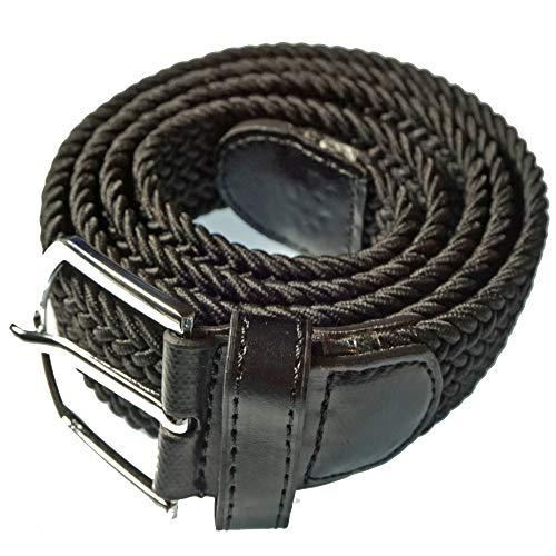 Natuiahan Cinturón Elástico Premium para Hombre Elegante Cinturón Negro sin Agujeros