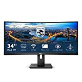 Philips Monitor 342B1C/00-34', Curved 1500R, WQHD, 75Hz, VA, Adaptive Sync (2560x1080, 300cd/m, HDMI 1x1.4, Displayport 1x1.2)