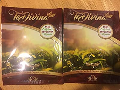 Best Seller Best deal Authentic,In stock, TeDivina 2 packs, 2 weeks supply,coming back of the''original''detox tea, way more effective than iaso tea by Vida Divina
