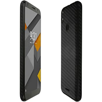 Skinomi Silver Carbon Fiber Full Body Skin Compatible with BLU Vivo X5 TechSkin with Anti-Bubble Clear Film Screen Protector Full Coverage