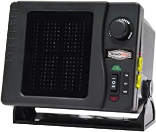 RoadPro RPSL-681 12V Direct Hook-Up Ceramic Heater/Fan w/Swivel Base