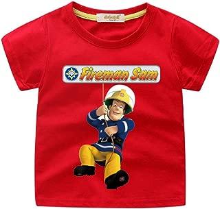 Boys Girls The Brave Fireman Sam T-Shirt Short Sleeve Cotton Tee for Kids