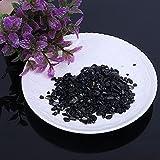 LVYAN 50G Piedras de Cristal de turmalina Negra Natural Grava Pulida decoración de Plantas de Acuario