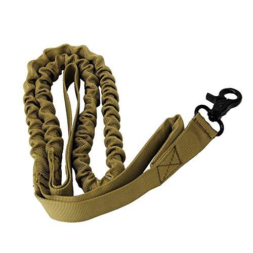 RK-HYTQWR 1000D Militärpolizei Hundeausbildungsleine Elastische Haustierhalsbänder, Taktische Hundeleine, Khaki