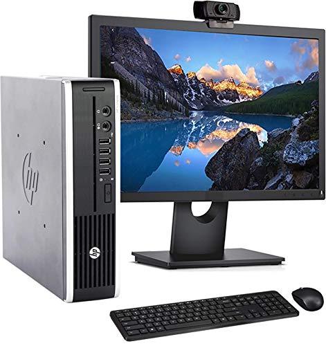 HP 8200 USFF Computer Desktop PC, Intel Core i5 3.1GHz Processor, 8GB Ram, 320 GB Hard Drive, WiFi | Bluetooth, 1080p Webcam, Wireless Keyboard & Mouse, 22 Inch Monitor, Windows 10 (Renewed)