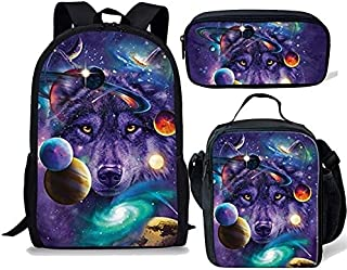 School Bags - Multicolor Star Space School Bag for Teenager Girl Boy Children Kids School Backpack Large Shoulder Book Bag...