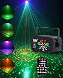 Stage Party Laser Lights, winoon Laser Projector lights, Disco DJ Laser Lights with RGB&UV LED, Remote Control, Music sync lights flash for Birthdays, holiday parties, outdoor activities