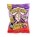 Warheads Chewy Cubes Mildly Sour Wildly Sweet Bag, 5 Ounce Bags - 12 Bags