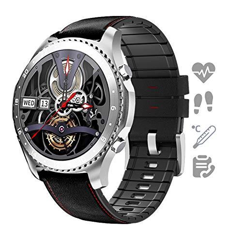 HQPCAHL Smartwatch Reloj para Android iOS con Llamada Bluetooth Monitor De Temperatura Frecuencia Cardíaca Presión Arterial Spo2 Sueño, Monitores De Actividad con 11 Deportes,J