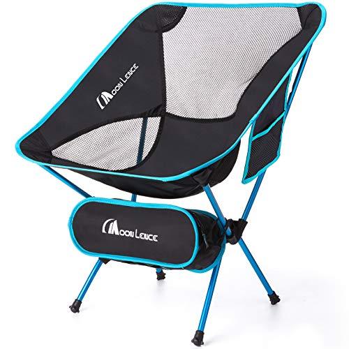Moon Lence アウトドアチェア キャンプ椅子 折りたたみ コンパクト 超軽量907g イス 収納バッグ付き ハイキング お釣り 登山 耐荷重150kg