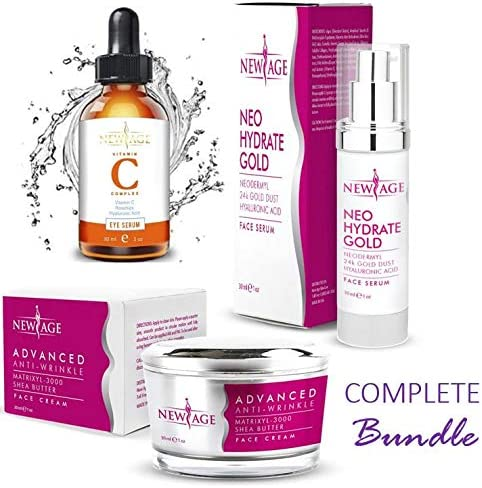 New Age Skin Care Beauty Box Set of 3 Gift Set Vitamin C And Hyaluronic Kit Eye Serum Neo Hydrate product image