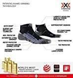 X-Socks Run Discovery Woman Calcetines Deportivos Calcetines Para Correr Mujer Socks Calcetines, Mujer, Black / Stone Grey Melange, 39/40