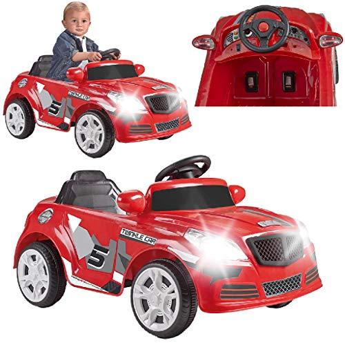 FEBER - Twinkle Car 12V R/C, coche eléctrico de 1 plaza, radiocontrol, 45 min de batería y detalles de coches: faros con luz, 2 marchas, acelerador y freno eléctrico, de 3 a 6 años, FAMOSA (800012263)