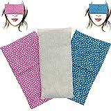 Almohada para los ojos'Pack Duo Espigas' (1 relleno y 2 fundas lavables)   Semillas de Lavanda y...