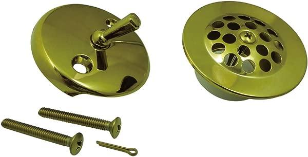 金士顿黄铜 DTL5305A2 制作与网格浴缸排水套件相匹配抛光黄铜
