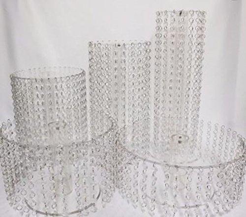 Kristall Hochzeit Tortenständer Design Etagere 5 Etagen Acryl, rund