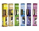takestop® Set 3 DIFFUSORI DIFFUSORE di FRAGRANZA Miste Casuale con Bastoncini 30ML per Ambiente Deodorante Profumo Aroma Terapia Famiglia