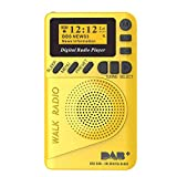 Pocket Radio digital DAB/FM Mini portátil, súper ligero, reproductor MP3 Radio FM, pantalla LCD, recargable, alta duración de la batería, 22 horas de reproducción para deportes, correr, movimiento