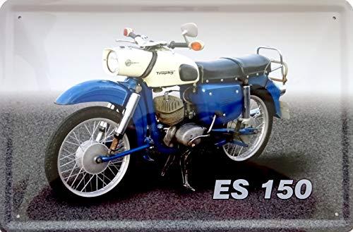 vielesguenstig-2013 Blechschild Schild 20x30cm - MZ ES 150 Trophy Motorrad DDR Osalgie Osten