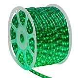 Wintergreen Lighting 150' Green LED Rope Light Kit, LED Flexible Light Rope String Light Outdoor – LED Light Rope Bedroom LED Light Rope, 120V, ½ Inch, 2-Wire (150 ft, Green)