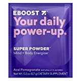 EBOOST Super Energy Powder (Acai Pomegranate) Drink Mix, Non-GMO Electrolyte Supplement Loaded with Vitamins, Minerals and Antioxidant for Men & Women, 20 Count