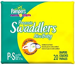 Pampers Swaddlers Preemie Mini Pack 20 Count