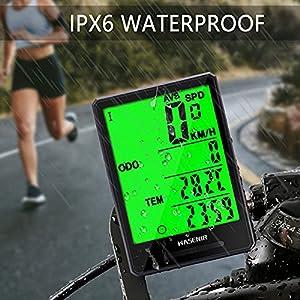 Wasenir Cuentakilómetros para Bicicleta, Impermeable Computadora de Bicicleta, Velocímetro inalámbrico Bicicleta con Pantalla 2,8 Pulgadas Grande LCD de Retroiluminación para Speed Track