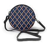 Bolso inclinado de las mujeres de color naranja y azul marino, bolso de hombro único personalizado, bolso de la fecha