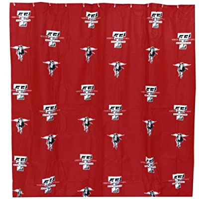 "College Covers Texas Tech Red Raiders Shower Curtain Cover, 70"" x 72"""