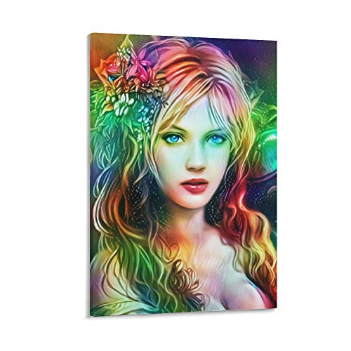 Magical Maiden Poster Decorative Painting Canvas Wall Art Living Room Posters Bedroom Painting 12×18inchs(30×45cm)