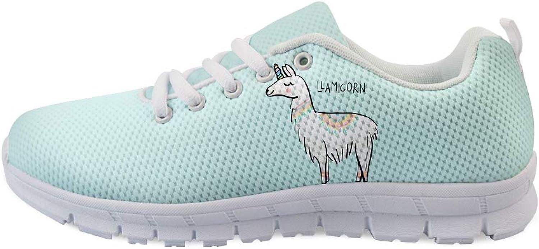 Owaheson Lace-up Sneaker Training shoes Mens Womens Llama Unicorn