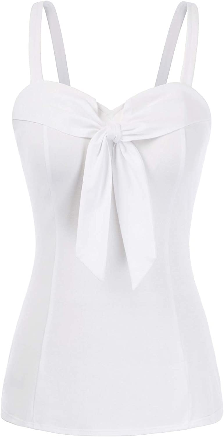Belle Poque Women's Summer Sleeveless Tie Knot Cami trend Al sold out. rank Ta Cute Crop