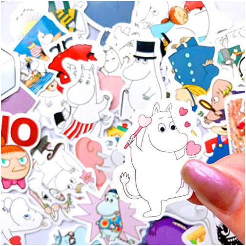 The Moomin Journal Stickers for Planner Scrapbook, Journal Sticker Set Crafts Diary Album Decoration for Teens, Water… |