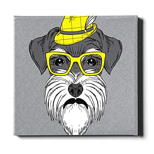 N\A Hombres decoración de la Pared Gafas Perro Estilo Popular Divertido Arte de la Pared decoración Lienzo Pintura Decorativa Adecuada para la decoración del hogar