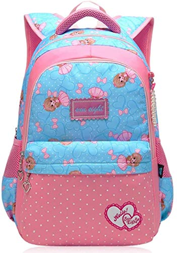 HRG Children's Schoolbags, Cute, Elementary School Girls, Light And Super Light Junior High University School Bag Bookbag Backpack School Bags (Color : Pink Navy, Size : S)