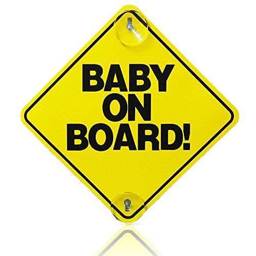 Baby an Bord Kind Sicherheit mit Saugnäpfen KFZ Schilder Baby on Board 2Fusion (TM)