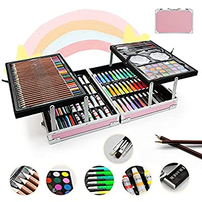 Amazon - 55% Off on Art Supplies,150-Pack Deluxe Art Set Crafts Drawing Painting Kit, Portable Art Case Gift for Adults