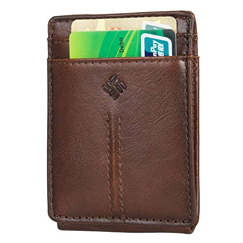 Columbia Men's RFID Wide Front Pocket Wallet With Magnetic Money Clip